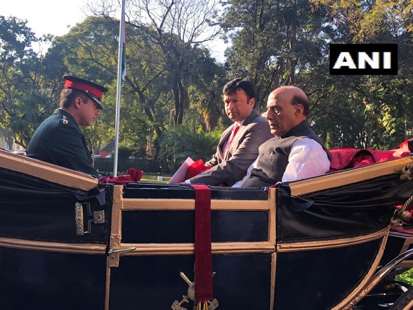 Uttarakhand: Defence Minister Rajnath Singh at the passing out parade of Indian Military Academy (IMA) in Dehradun [Photo/ANI]