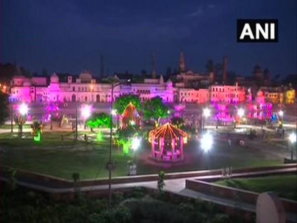 Diyas and colourful bright light illuminated parts of Ayodhya on Saturday. (File photo)
