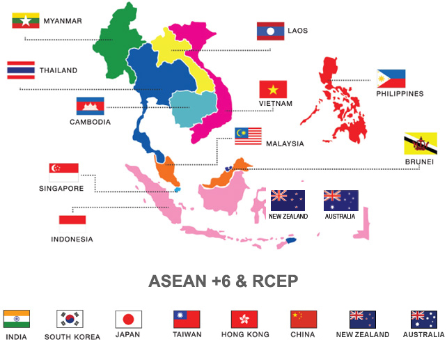 RCEP comprises 10 ASEAN nations and 6 FTA partners