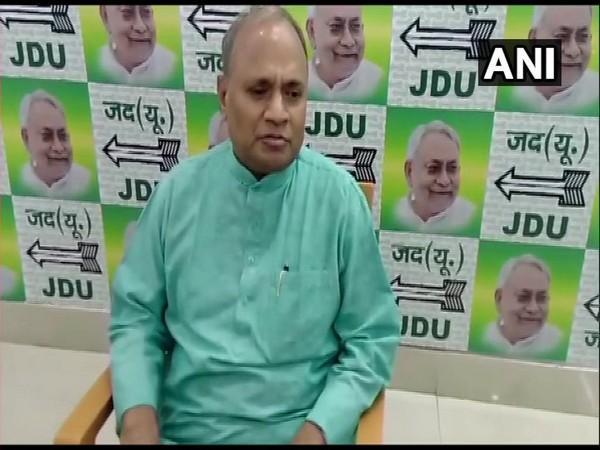 JD(U) leader RCP Singh in Patna on Thursday. Photo/ANI