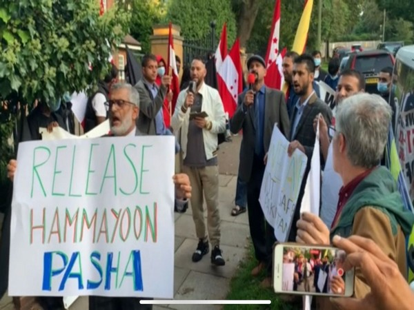 London: PoK activists hold protest on arrival of Pakistan foreign minister Shah Mehmood Qureshi