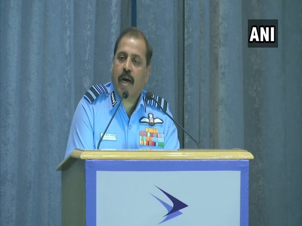 Indian Air Force Chief RKS Bhadauria at the Centre for Air Power Studies on Friday.