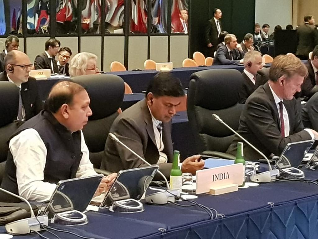 Union Minister RK Singh at G20 ministerial meet on energy in Japan on Saturday.