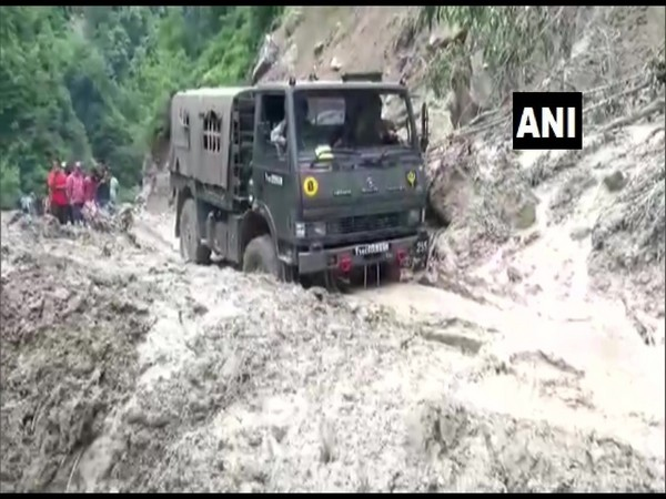 Several roads have been shut in Uttarakhand due to landslides. (Photo/ANI)