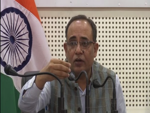 ohit Kansal, Jammu and Kashmir Principal Secretary of Power and Information during a press conference on Tuesday. (Photo/ANI)