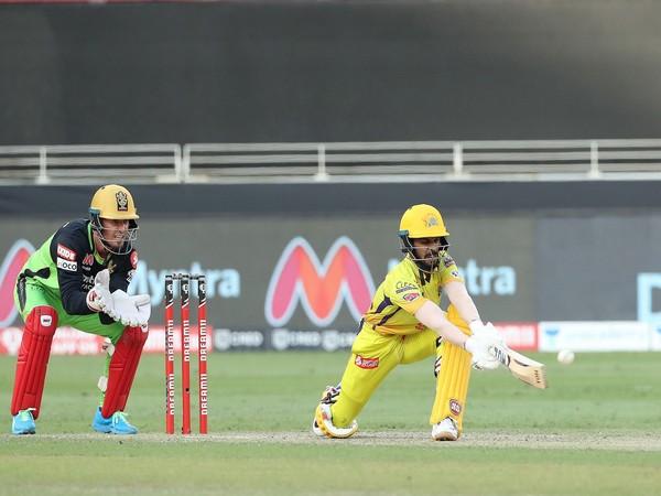 CSK's Ruturaj Gaikwad in action against RCB (Photo/ iplt20.com)
