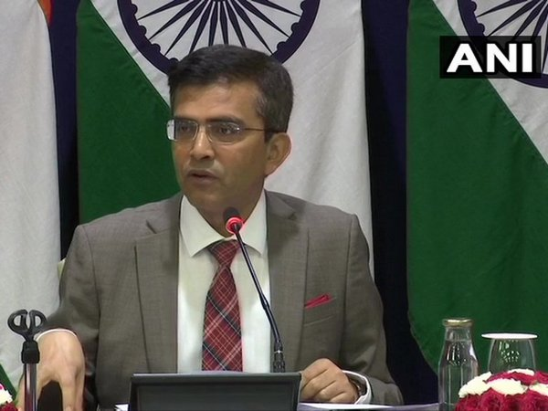 MEA spokesperson Raveesh Kumar addressing a weekly briefing on Thursday