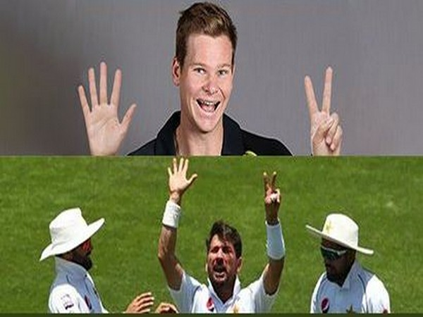 Australia's Steve Smith (above) and Pakistan's Yasir Shah (below) (Photo/ Rajasthan Royals Twitter)