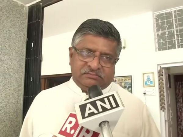 File photo of Law Minister Ravi Shankar Prasad