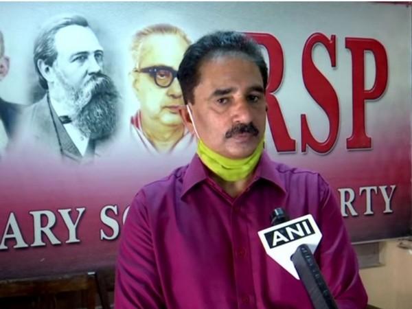 RSP leader N.K. Premachandran speaking to ANI in Thiruvananthapuram on Tuesday.