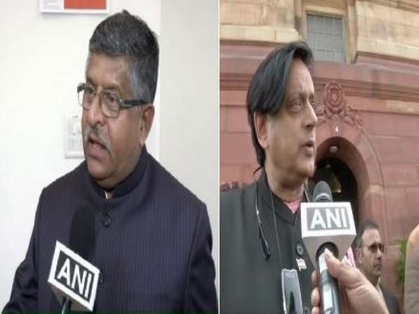 Ravi Shankar Prasad and Shashi Tharoor (File Photos)