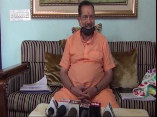 RSS leader Indresh Kumar speaking at a press conference in Kaithal on Thursday. [Photo/ANI]