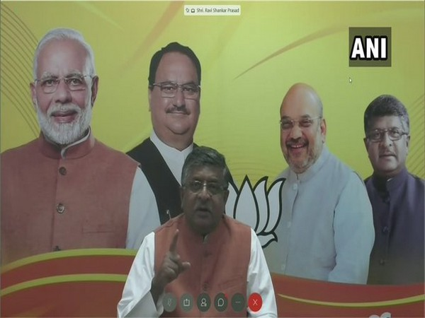 Union Minister Ravi Shankar Prasad addressing a West Bengal BJP virtual rally on Thursday.