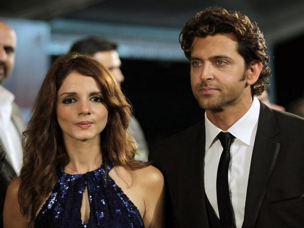 Bollywood actor Hrithik Roshan with ex-wife Sussanne Khan