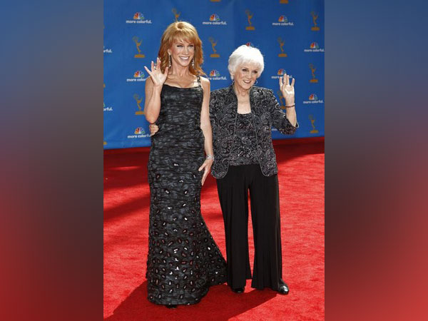 Kathy Griffin with mother Maggie Griffin at the 62nd annual Primetime Emmy Awards in Los Angeles.
