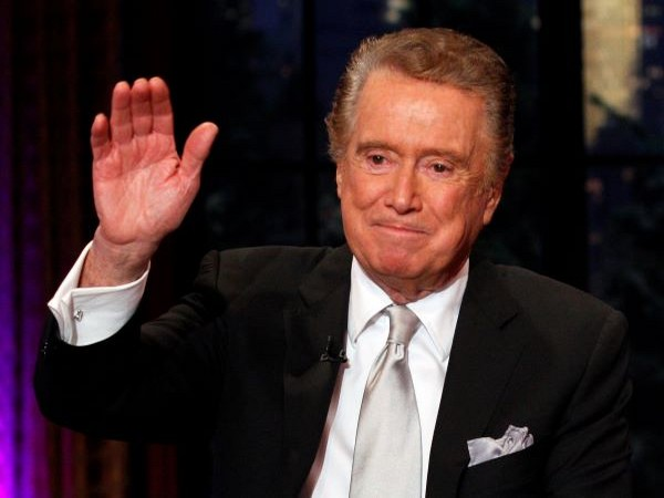 The iconic television personality Regis Philbin.
