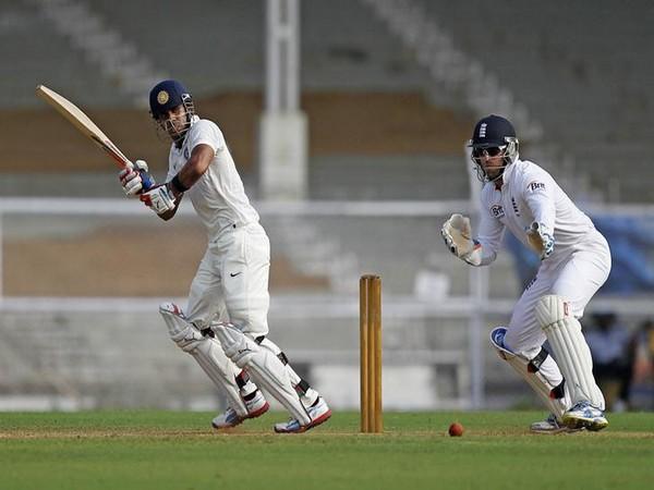 Manoj Tiwari while playing a shot.
