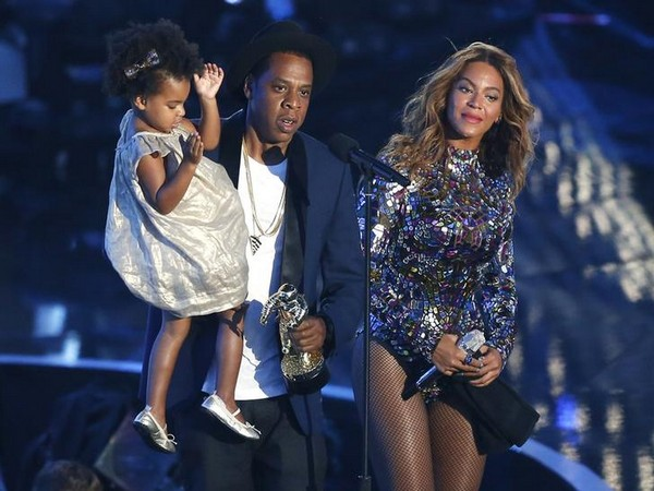 Blue Ivy, Jay Z and Beyonce