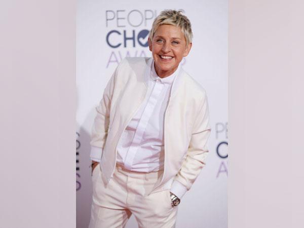 American comedian and TV show host Ellen DeGeneres.