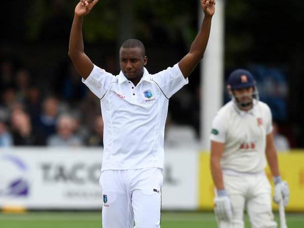 West Indies pacer Miguel Cummins