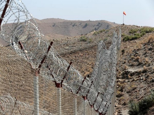 A view of the border fence outside the Kitton outpost on the border with Afghanistan in North Waziristan, Pakistan