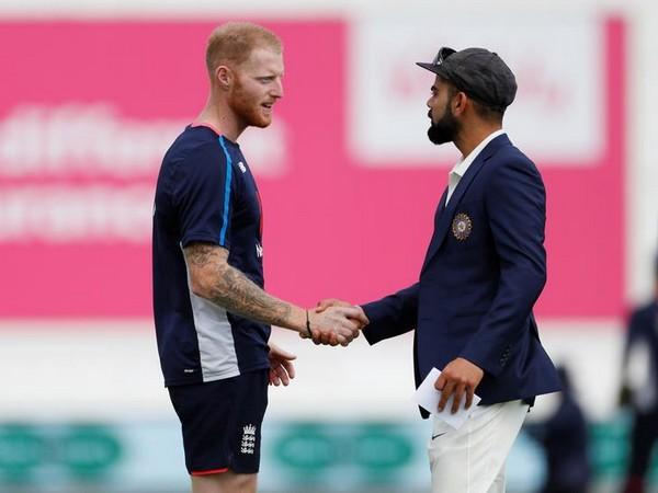 Ben Stokes with Virat Kohli