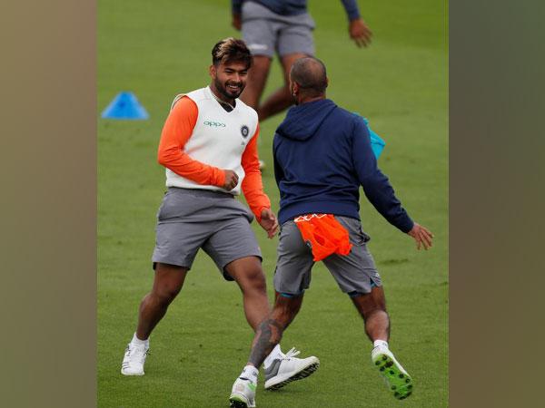 Rishabh Pant with Shikhar Dhawan during nets