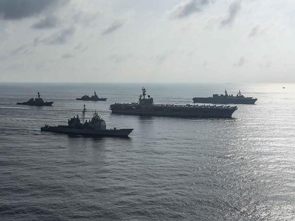 Ronald Reagan Carrier Strike Group (Credit: Reuters)