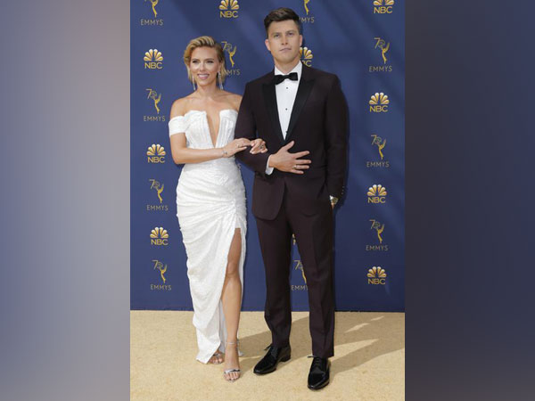Scarlett Johansson and Colin Jost at 70th Primetime Emmy Awards