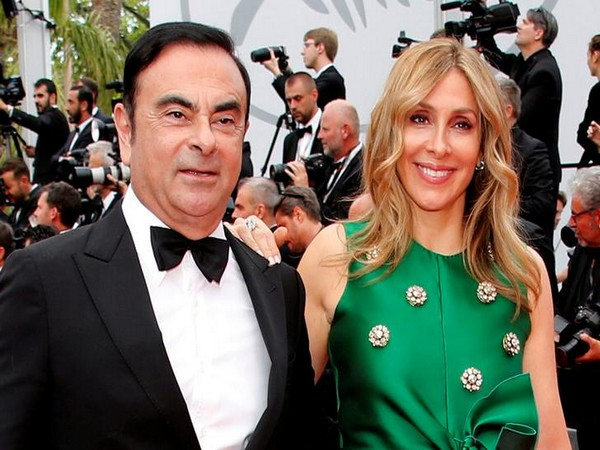 Former Nissan Motor boss Carlos Ghosn and his wife Carole.