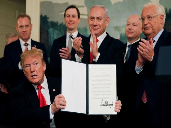 US President Donald Trump and Israeli Prime Minister Benjamin Netanyahu signed an official decree to recognise Israel's sovereignty over Golan Heights in Washington D.C. on Monday.
