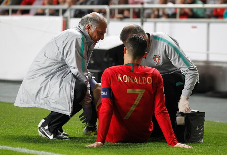 Ronaldo suffers hamstring injury during Euro 2020 qualifier match against Serbia