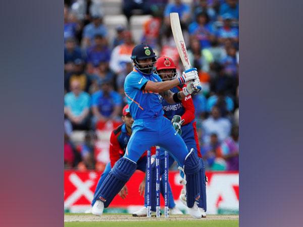 Indian skipper Virar Kohli in action against Afghanistan on Saturday