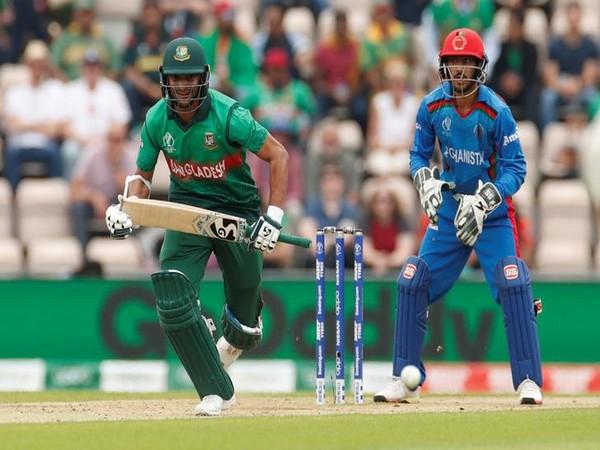 Bangladesh all-rounder Shakib Al Hasan in action against Afghanistan