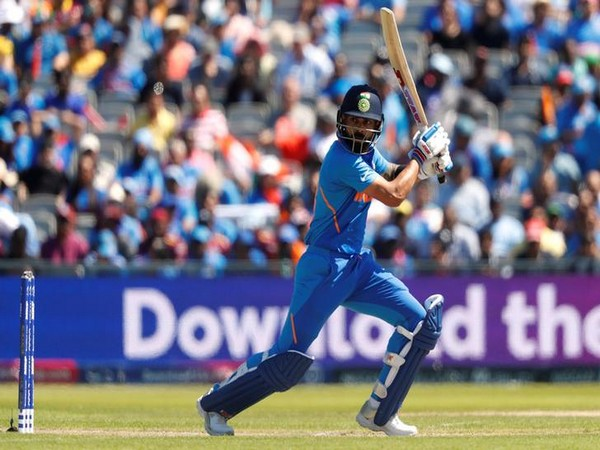 Indian skipper Virat Kohli in action against West Indies