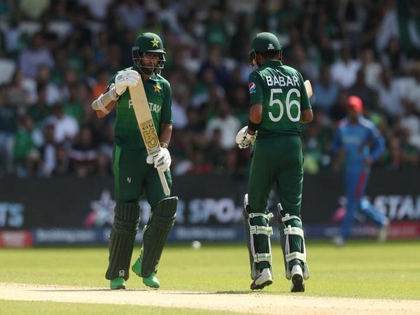 Pakistan's Imam-ul-Haq and Babar Azam in action against Afghanistan