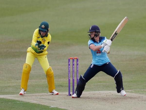 England's Katherine Brunt in action during opening ODI of Women's Ashes.