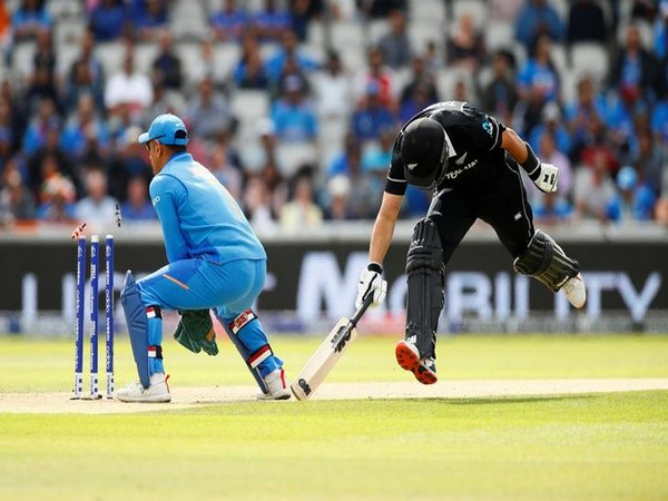 New Zealand's Ross Taylor getting run out