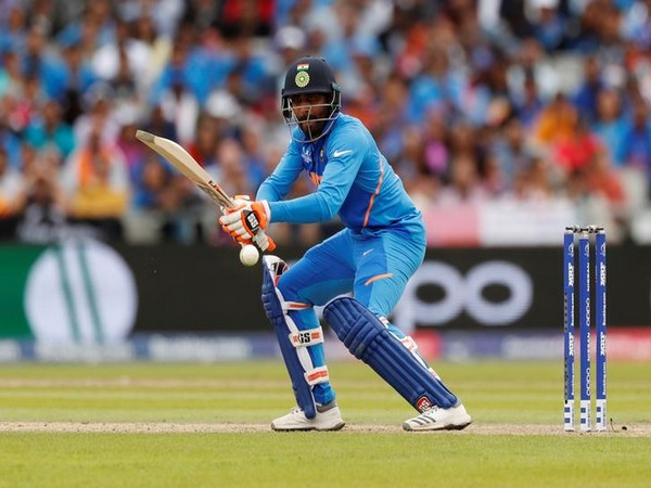 All-rounder Ravindra Jadeja in action against New Zealand