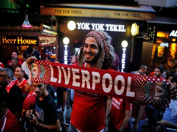 Liverpool fans ahead of the UEFA Super Cup match
