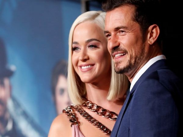 Celebrity couple Katy Perry and Orlando Bloom