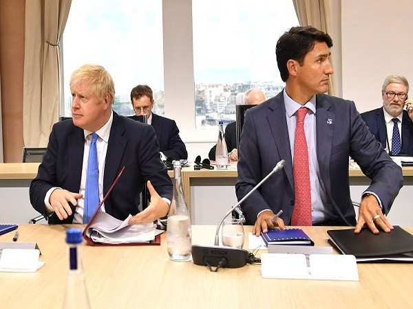 UK Prime Minister Boris Johnson and Canada Prime Minister Justin Trudeau (Credit: Reuters Pictures)
