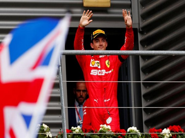 Ferrari's Charles Leclerc after winning Belgian Grand Prix