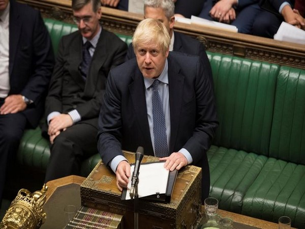 UK Prime Minister Boris Johnson at the House of Commons in London on Wednesday. (Photo Credits: Reuters)