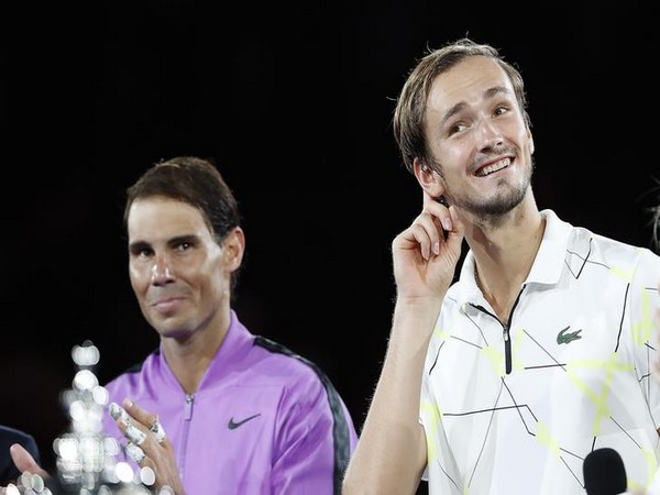Russia's Daniil Medvedev and Spain's Rafael Nadal after the US Open final