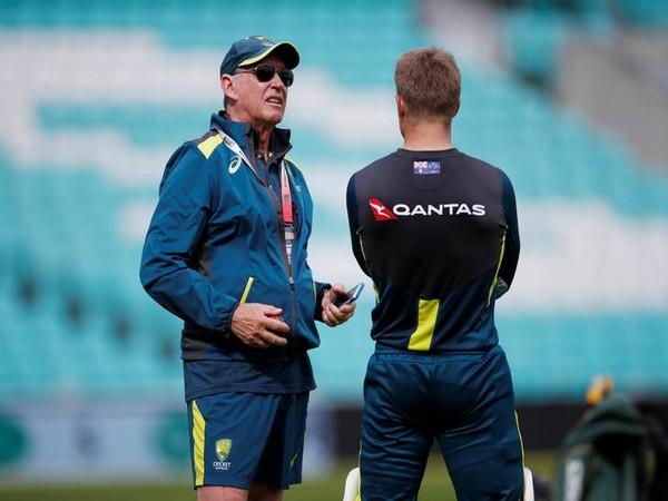 Cricket Australia's Chairman of Selectors Trevor Hohns and David Warner
