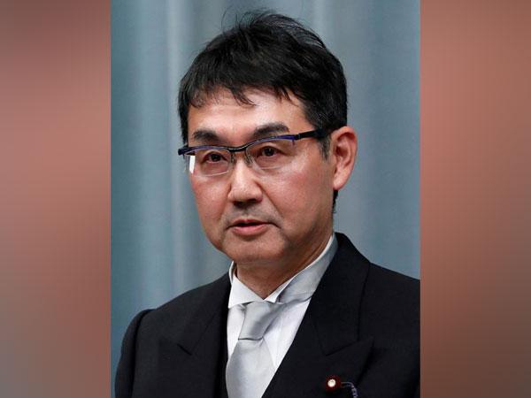 Japan Justice Minister Katsuyuki Kawai
