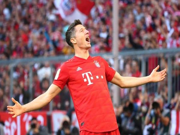 Bayern Munich's Robert Lewandowski.