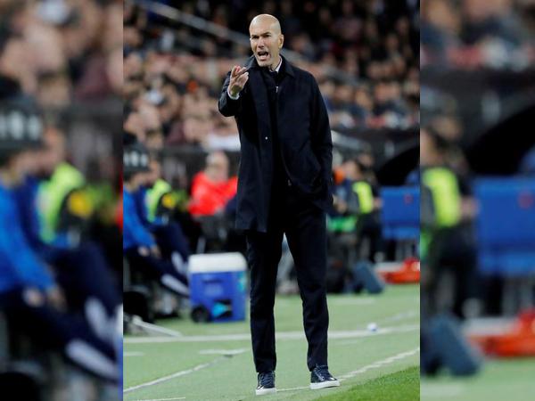 Real Madrid manager Zinedine Zidane