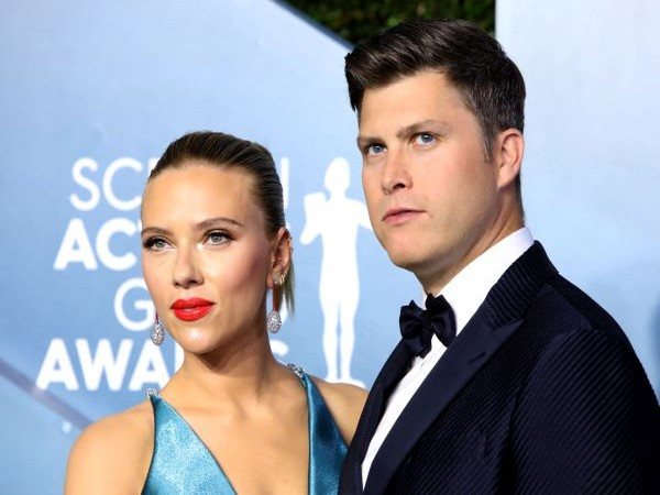 Scarlett Johansson and Colin Jost.